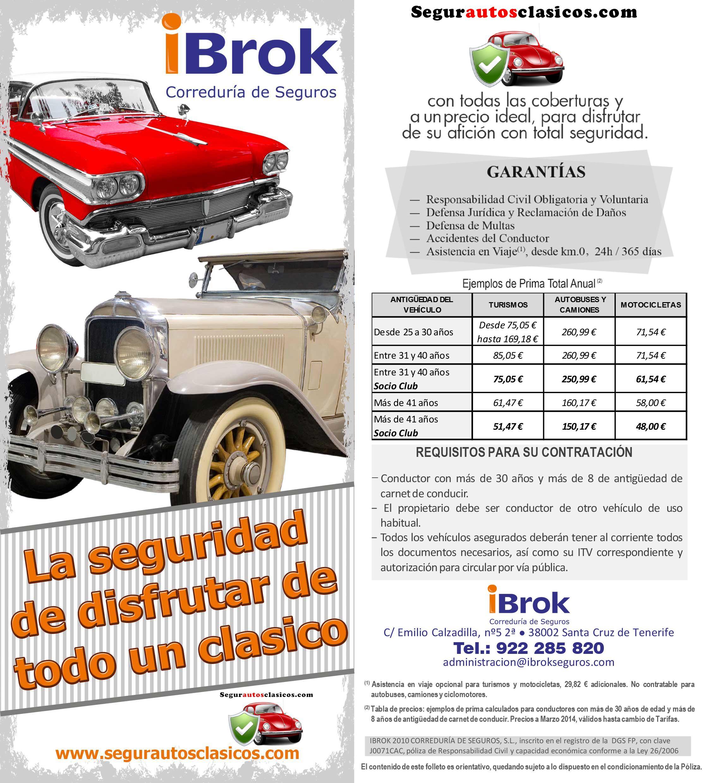 Nuevos folletos www.segurautosclasicos.com